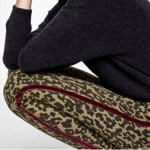 Zara Animal Print Skinny Jeans Velvet Stripe